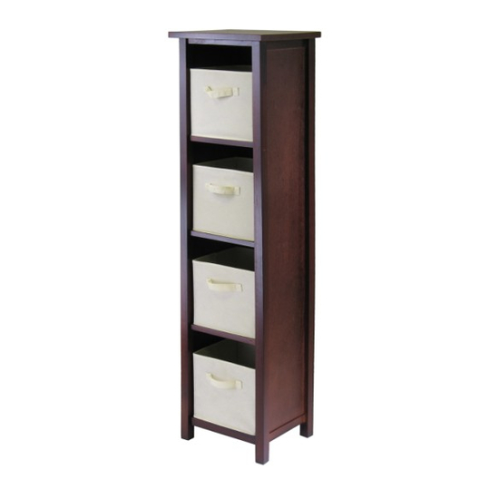 Winsome Wood Verona 4-Section N Storage Shelf
