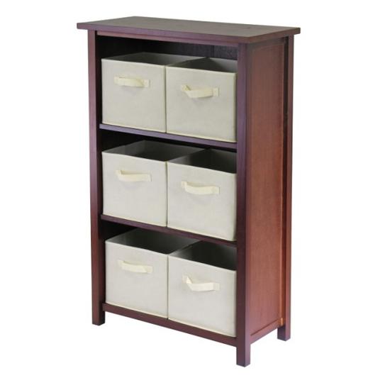 Winsome Wood Verona 3-Section M Storage Shelf