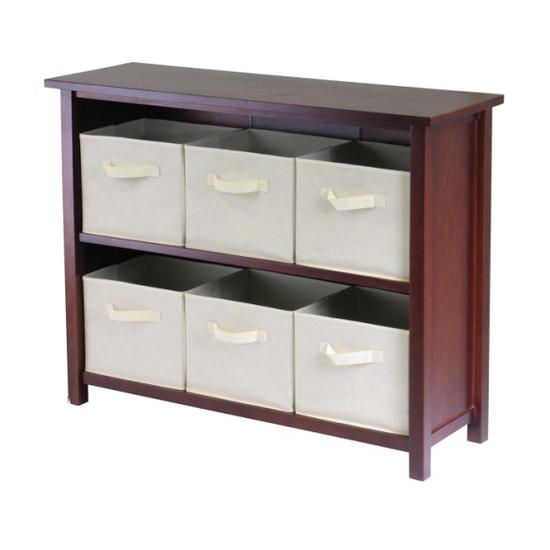 Winsome Wood Verona 2-Section W Storage Shelf