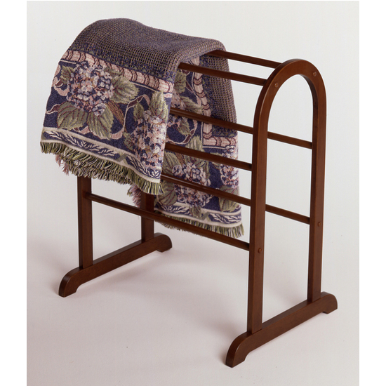 Quilt Rack Antique Walnut