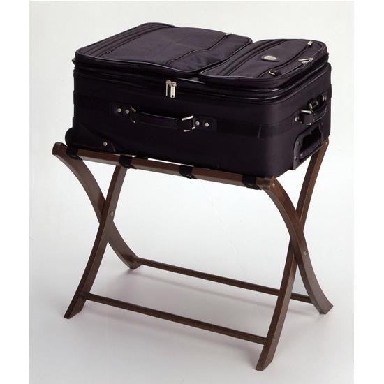 Folding Luggage Rack Antique Walnut