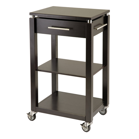 Winsome Wood Mobile Chrome Accented Kitchen Cart