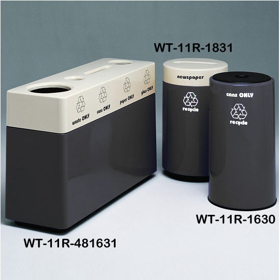 Black Fiberglass Recycling Containers