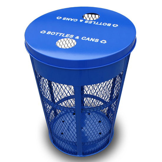 Witt Expanded Metal Outdoor Recycling Container