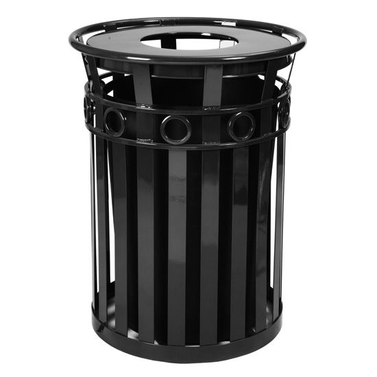 Witt Oakley Collection Round Ring Trash Receptacle
