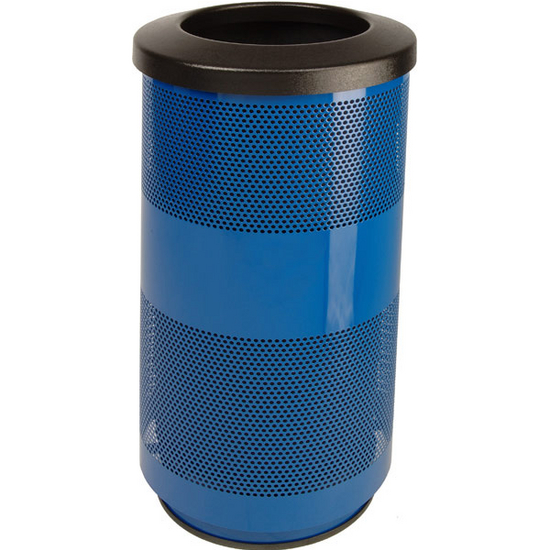 Witt Stadium Series Perforated Metal Trash Cans