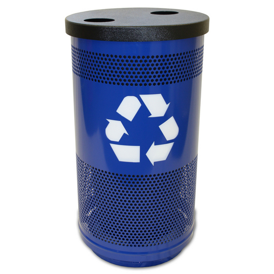 Witt - Recycle Unit with Recycle Flat Top Lid - 2 Hole Openings