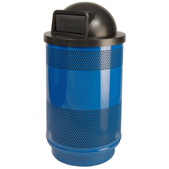 Trash Cans 55 Gal Standard Unit With Dome Top Lid With