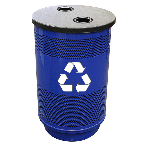 Witt - 55 Gal. Recycle Unit with Standard Ad Openings - Recycle Flat Top