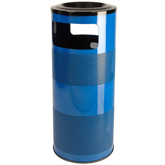 Stadium Series Perforated Metal Ash' N Trash Can