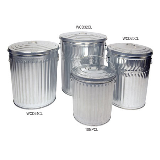 Galvanized Metal Trash Cans