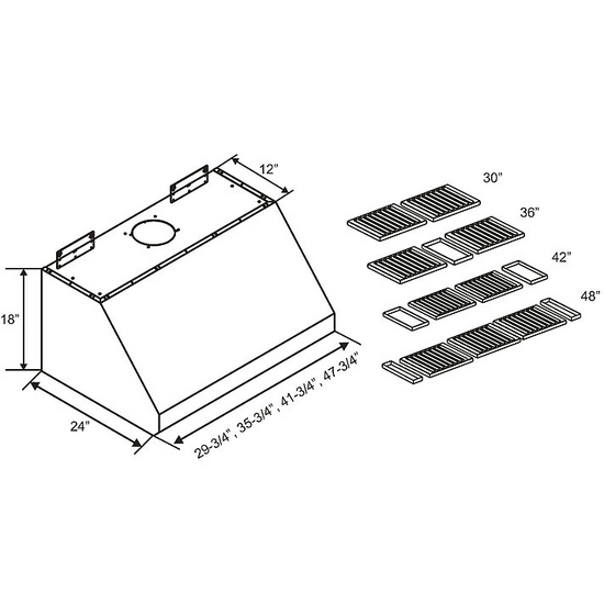 Under Cabinet Range Hood With 6-Speed LED