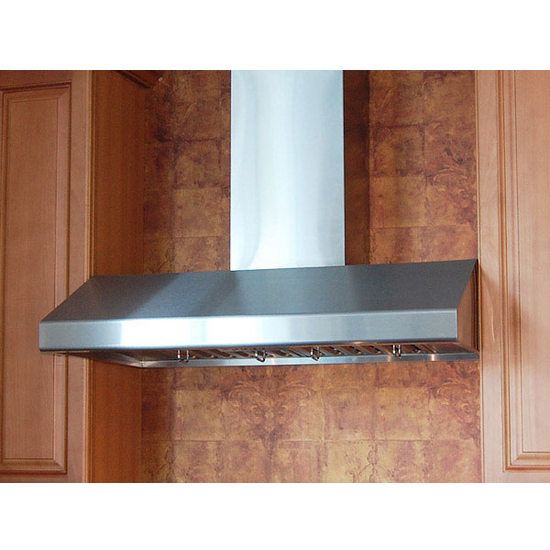 "Windster - Wall Mount Range Hood with Duct Cover, 30"" W -48"" W, Stainless Steel"