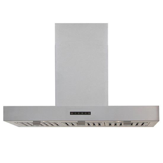 Windster WS-28TB Series 30'' or 36'' Stainless Steel Wall Mount Range Hood, 8 - 9 FT DC Included